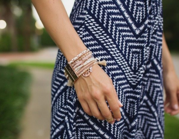 Summer Fashion | Loveappella maxi dress + Henri Bendel bracelet