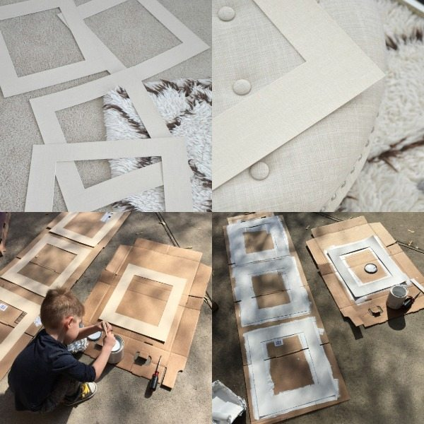 Easy DIY project - painted mats