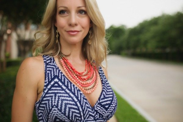Summer Fashion | Loveappella maxi dress + Stella & Dot necklace