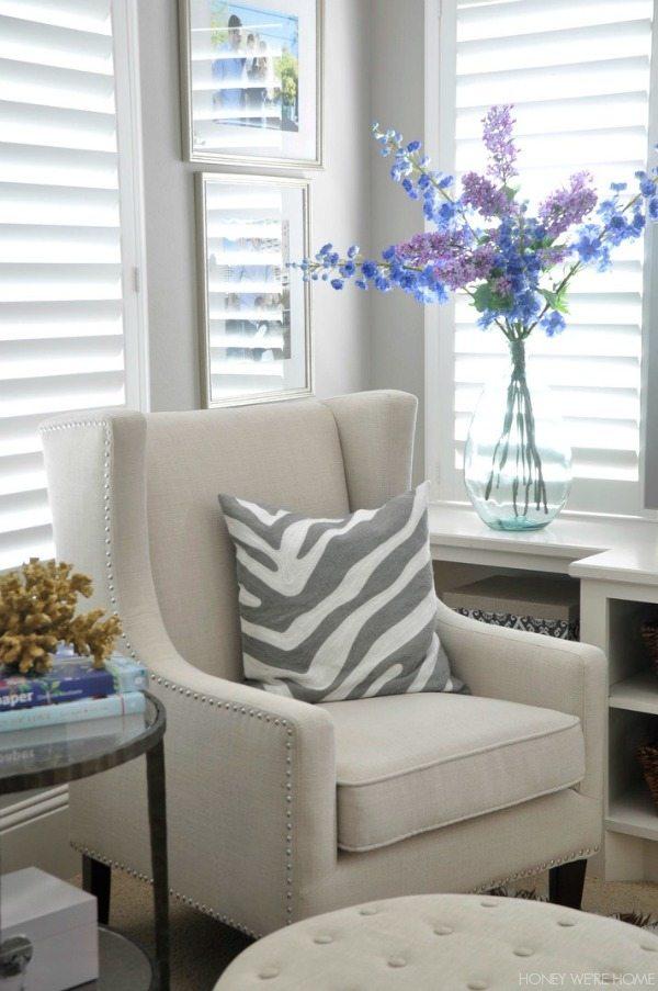 Easy summer decor - cozy sitting room
