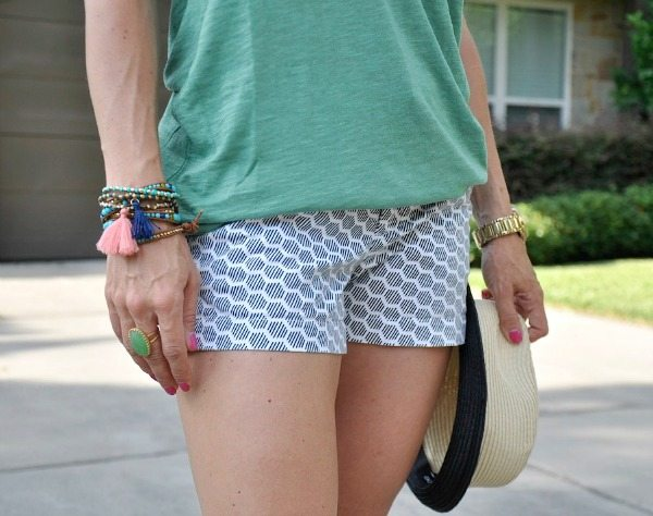 Summer Uniform - Halogen Tee and Caslon Shorts - wrap bracelets