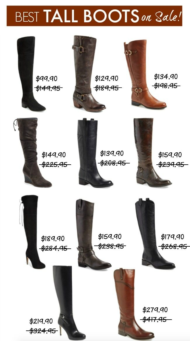 Fall Fashion - Best Tall Boots on Sale