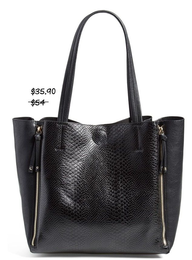 Fall fashion - Emperia Faux Python Tote (online only) $35.90