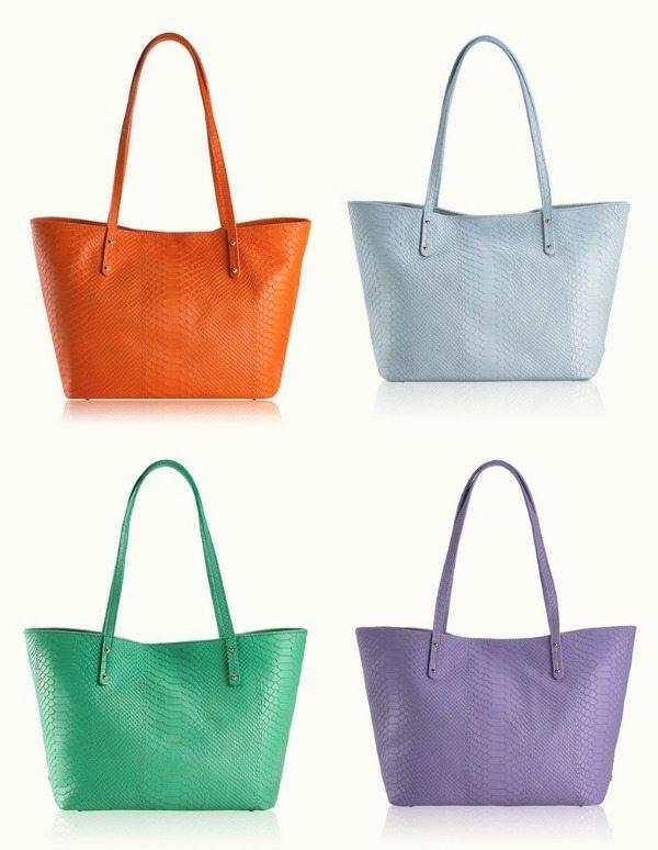 Summer Fashion - Gigi NY Mini Taylor python leather bags on sale - so many colors!