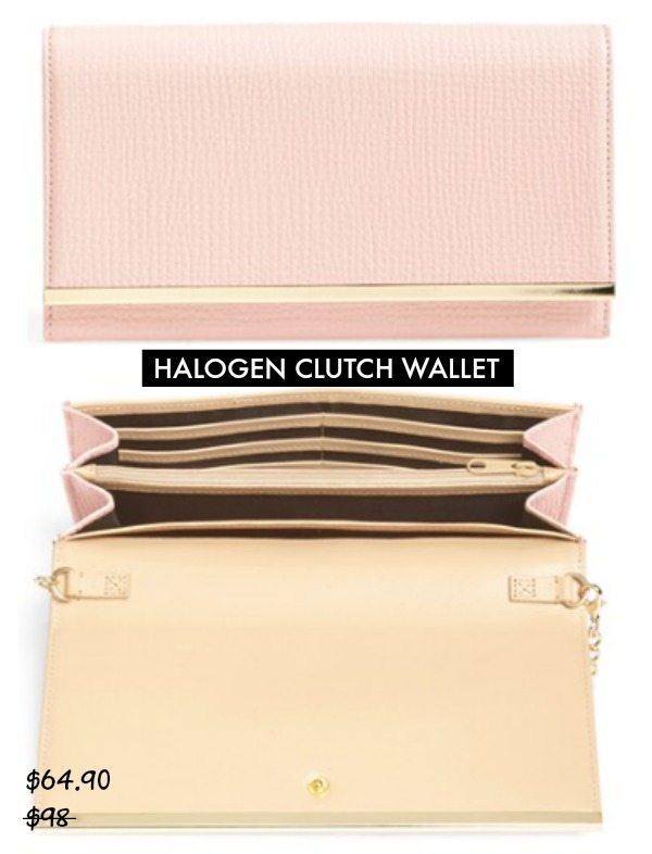 Halogen Clutch Wallet $64.90