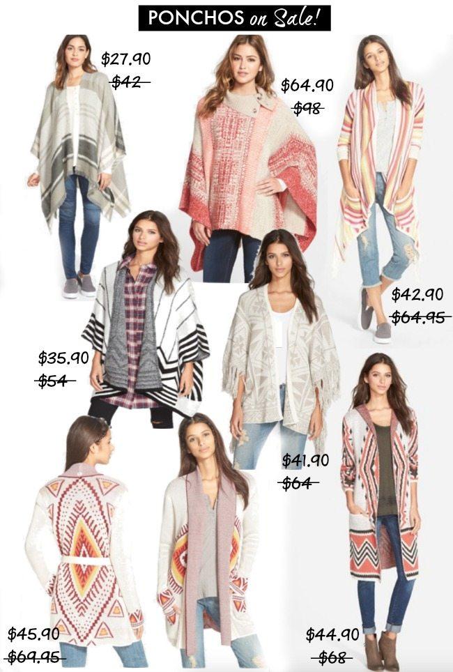 Fall Fashion - ponchos on sale