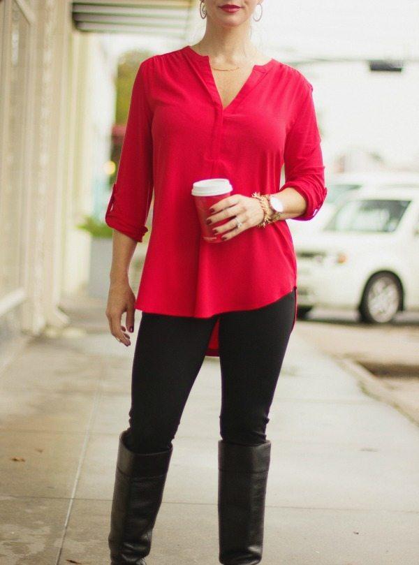 Fall Fashion - tunic and leggings perfect casual combo