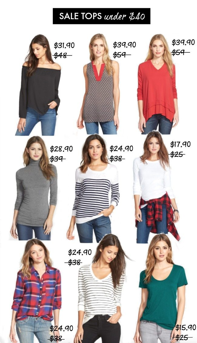 Fall Fashion - Sale tops under $40
