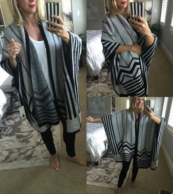 Fall fashion - blanket poncho