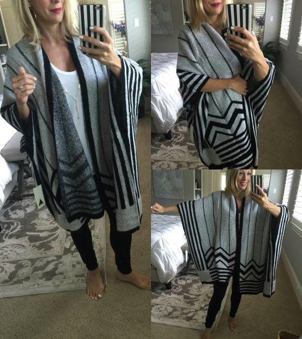 Fall fashion - blanket poncho