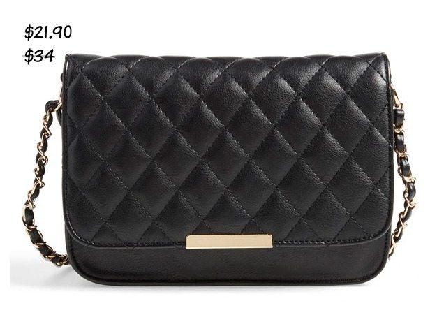 Fall fashion - Lulu Quilted Vegan Leather Crossbody Bag $21.90