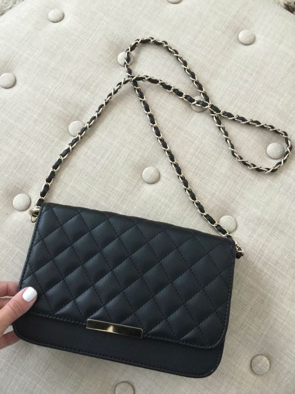 quilted vegan cross body bag - only $21.90