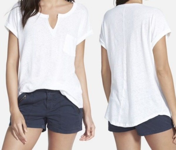 Summer Fashion - Stem Split Neck Tee