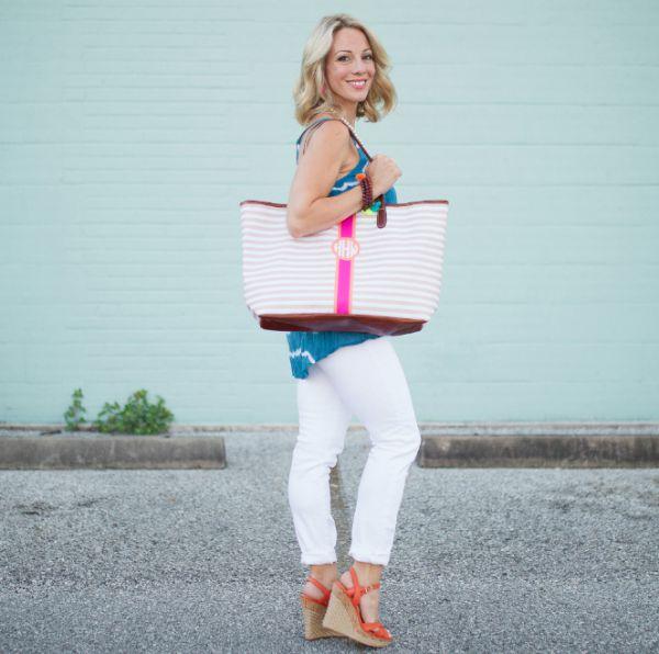 Spring/summer fashion - Barrington Monogram Stripe Bag
