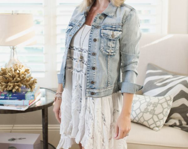 Fall Fashion - Free People Lace Trim Tunic + Denim Jacket