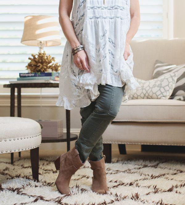 Fall Fashion - Free People Lace Trim Tunic + Military pants