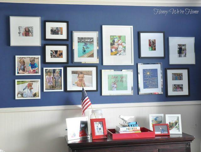 Kid room gallery wall