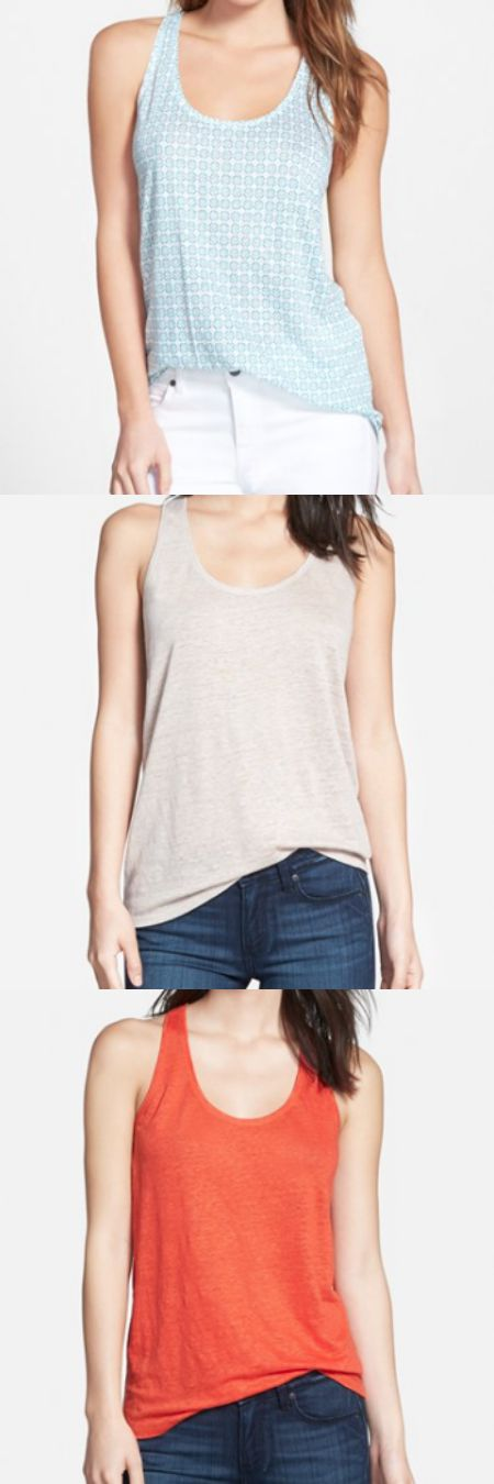 Summer Fashion - Halogen Linen tank under $10