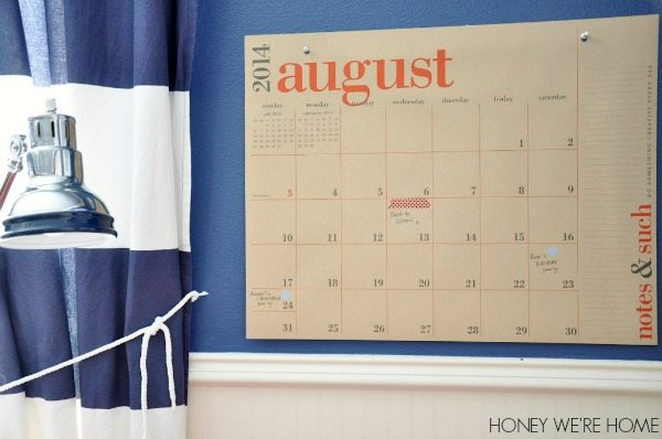 Oversized calendar from Paper Source