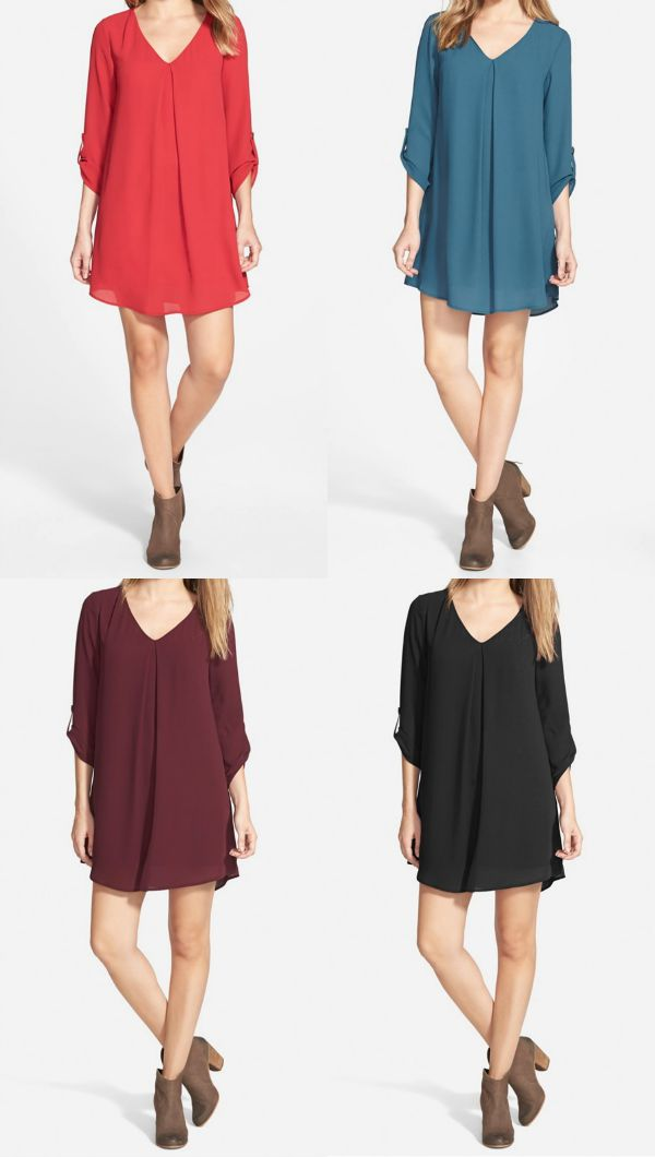 Fall Fashion - shift dress with booties