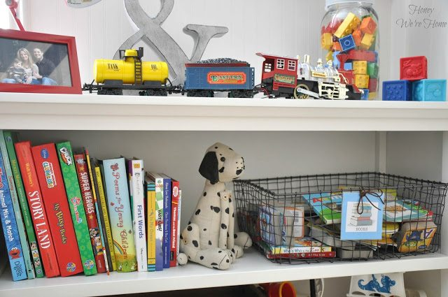 Big boy room with Pottery Barn Cameron bookcase