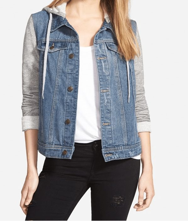 Fall Fashion - Thread & Supply Denim Jacket, perfect for weekends with the grey hoodie