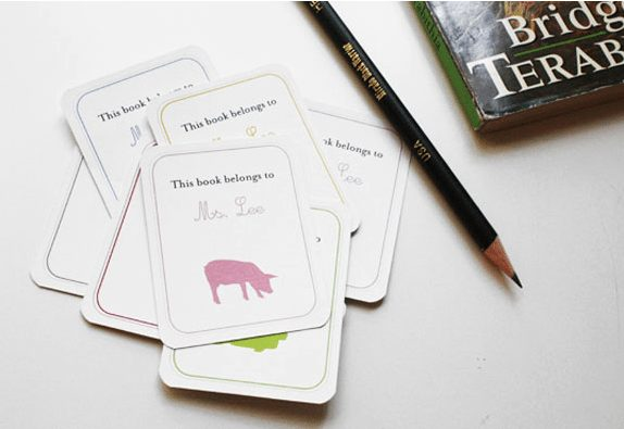 Teacher Gifts - DIY bookplate with FREE printable