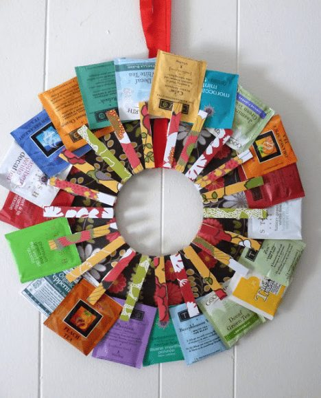 Teacher Gift -  DIY Tea Wreath via Kolo Designs