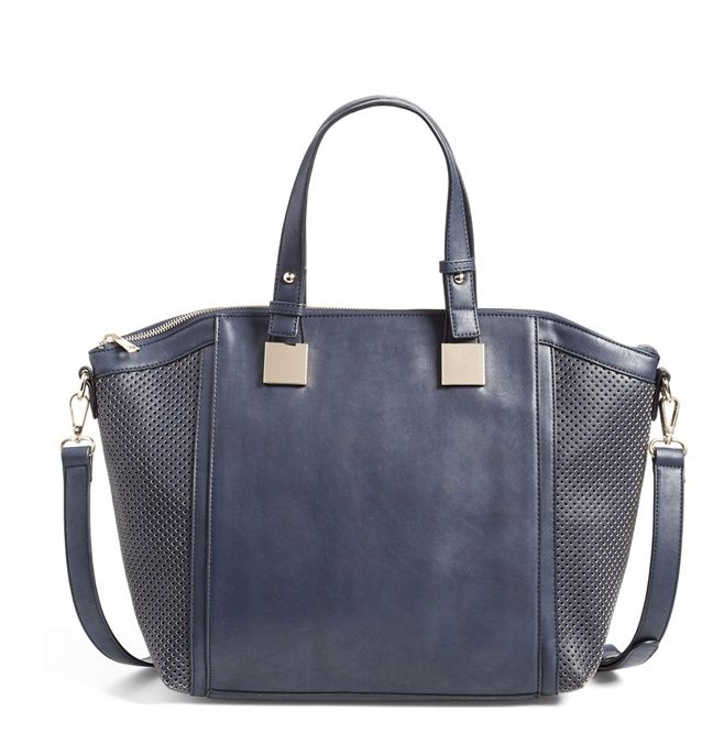 Fall Fashion - navy vegan leather satchel ($52)