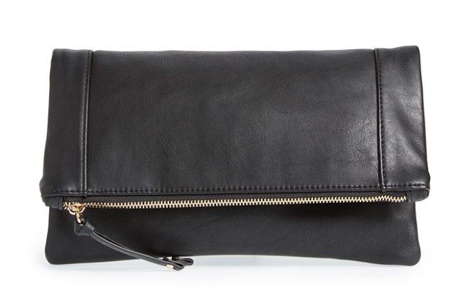 Sole Society Vegan Leather Foldover Clutch $39.95