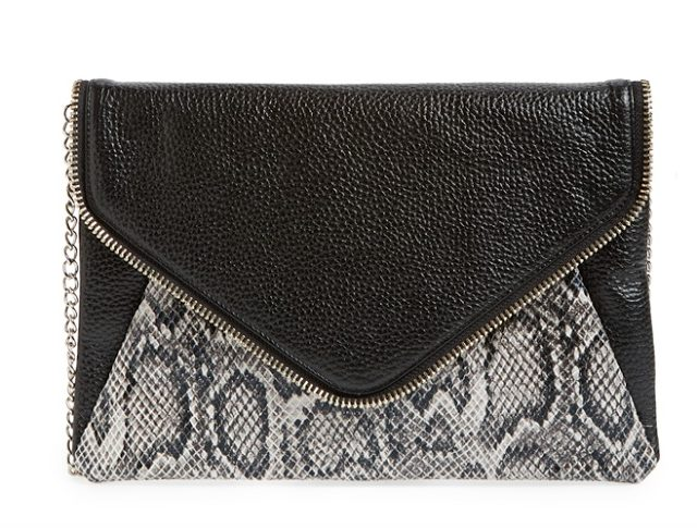 Halogen Leather Clutch $98, $58.80