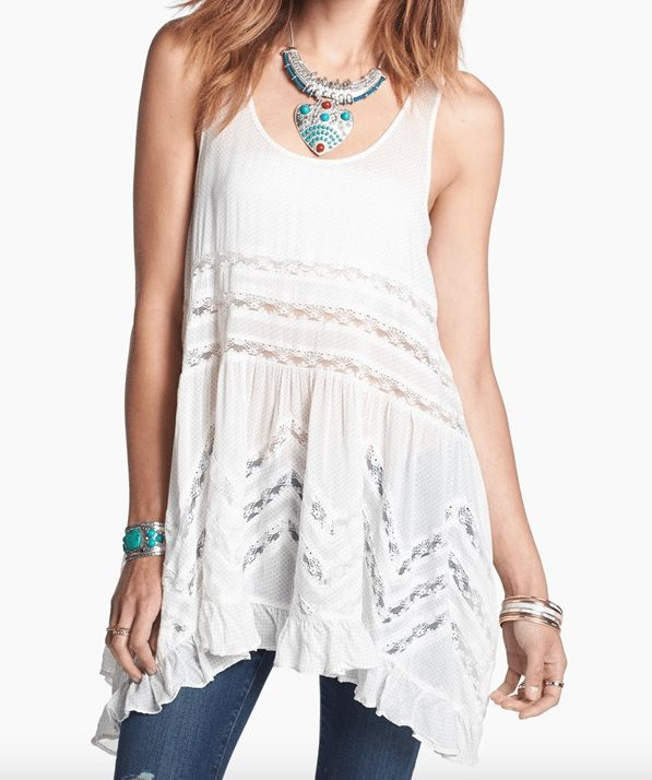 Fall Fashion -  Free People Lace Trim Tunic