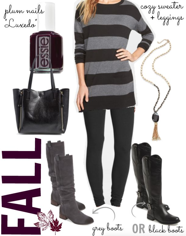 Fall fashion outfit - Caslon two-pocket knit tunic, perfect with jeans or leggings for Fall