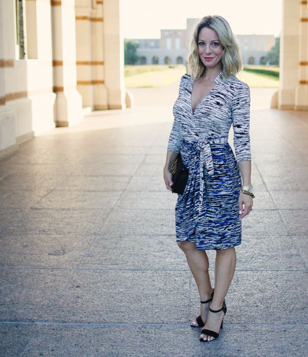 Fall Fashion - Maggy London wrap dress