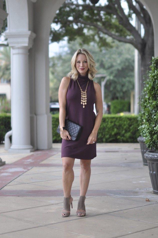 Fall fashion - plum dress