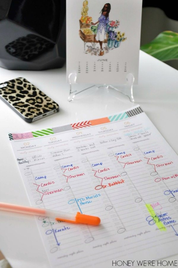 Operation Organize Your Day with daily printables
