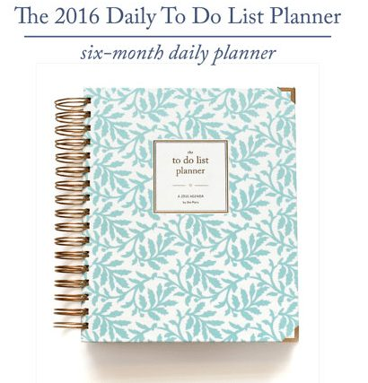 2016 ShePlans 2016 Daily To Do List Planner