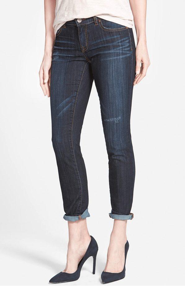 Halogen distressed girlfriend jeans, under $40!