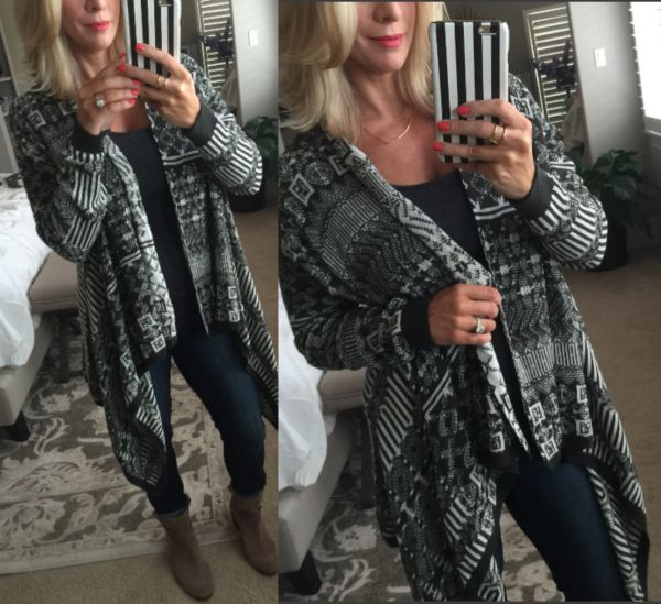Fall fashion - cozy wrap cardigan