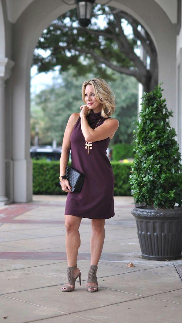 Fall fashion - Leith A-Line Turtleneck dress