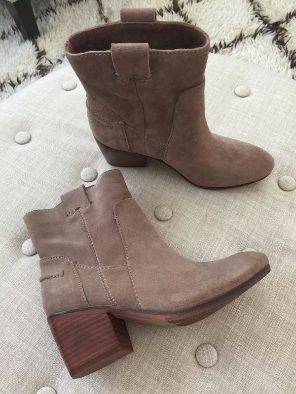 "Vince Camuto Maves Bootie- perfect ""go to"" casual bootie for everyday with outfit ideas to go with them!"