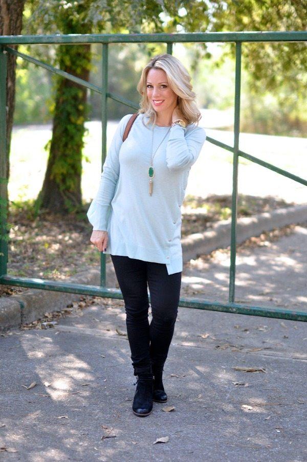 Fall/Winter fashion - Halogen Asymmetrical Snap Detail Tunic