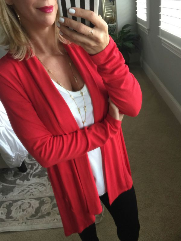 Fall fashion - wearing this Bobeau Long Cardigan with everything - skirts, dresses, jeans, leggings