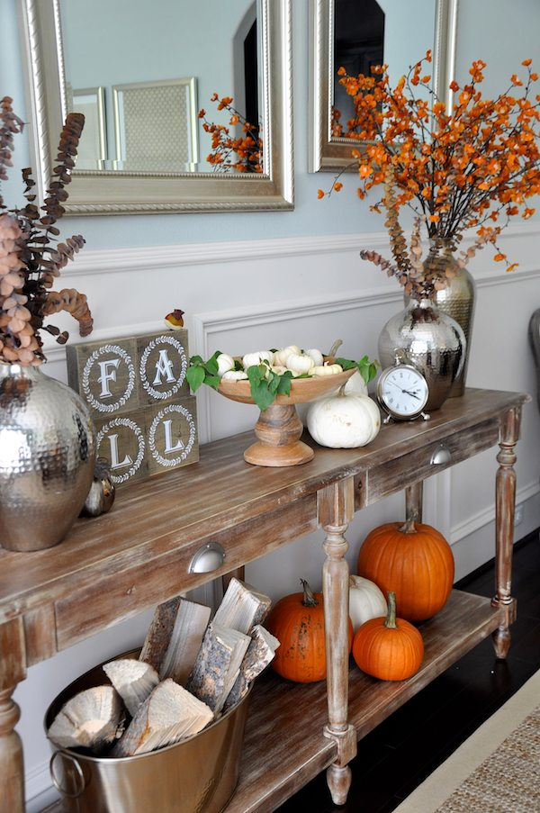 Fall dining room console styling honey we re home