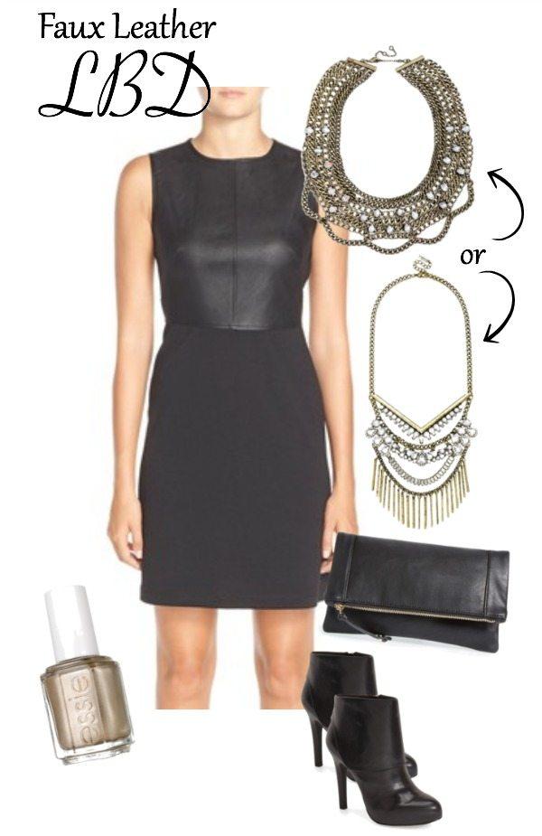 Faux Leather Little Black Dress | Honey We're Home