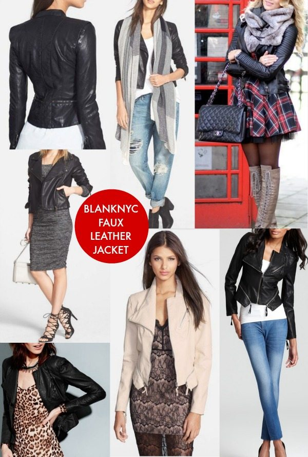 Fall fashion - BLANKNYC Faux Leather Jacket goes with everything!