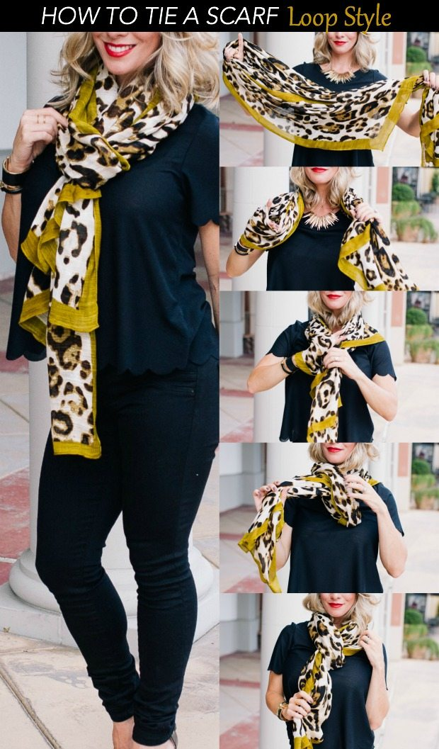 How to tie a Scarf - Loop Style