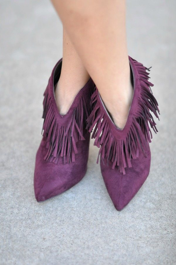 Fall Fashion - ModCloth fringe booties