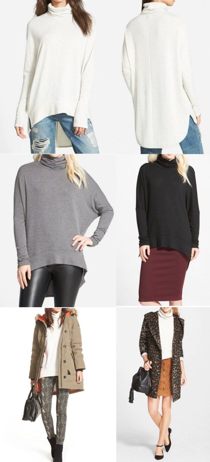 Fall fashion - oversize turtleneck tunic