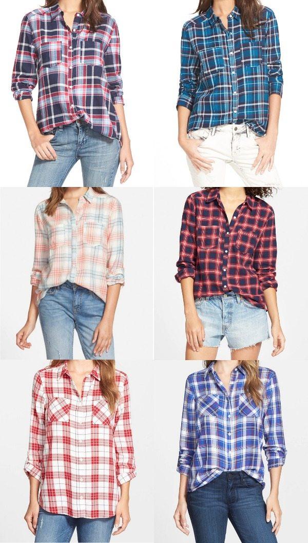 Fall fashion - crazy over this plaid button down shirts